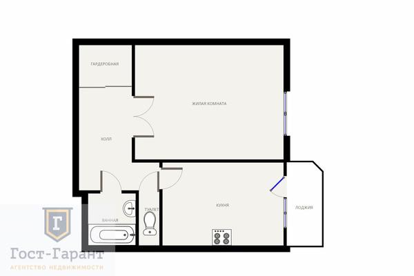 Адрес: г. Апрелевка, Цветочная Аллея улица, дом 11, агентство недвижимости Гост-Гарант, планировка: Индивидуальный проект , комнат: 1. Фото 12