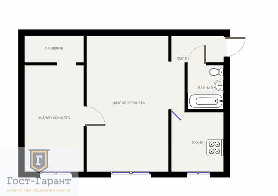 2 комнатная на Архитектора Власова. Фото 9