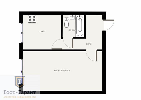 Адрес: Академика Варги улица, дом 2, агентство недвижимости Гост-Гарант, планировка: II-49Д, комнат: 1. Фото 8