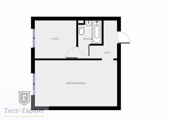 1-комнатная квартира Теплый Стан. Фото 6