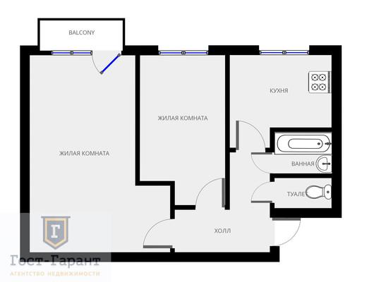 Адрес: Молостовых улица, дом 11к5, агентство недвижимости Гост-Гарант, планировка: I-515, комнат: 2. Фото 15