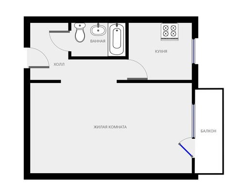 Адрес: Стандартная улица, дом 31, агентство недвижимости Гост-Гарант, планировка: II-18, комнат: 1. Фото 8