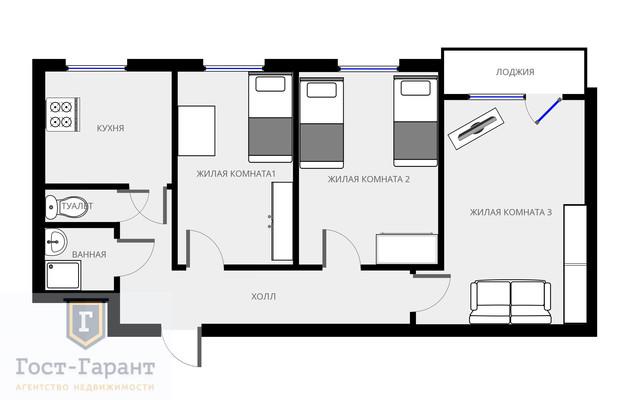 3 комнатная в Выхино. Фото 13