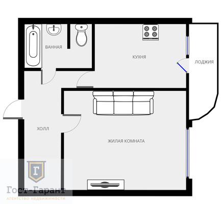 Адрес: 1-я улица Машиностроения, дом 6А, агентство недвижимости Гост-Гарант, планировка: П-111М, комнат: 1. Фото 9