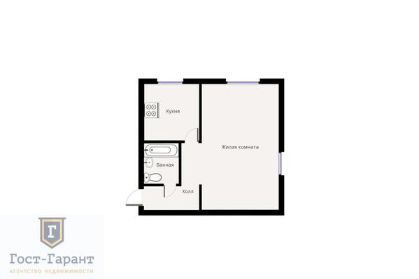 Адрес: 4-я Марьиной рощи улица, дом 4А, агентство недвижимости Гост-Гарант, планировка: I-515, комнат: 1. Фото 7