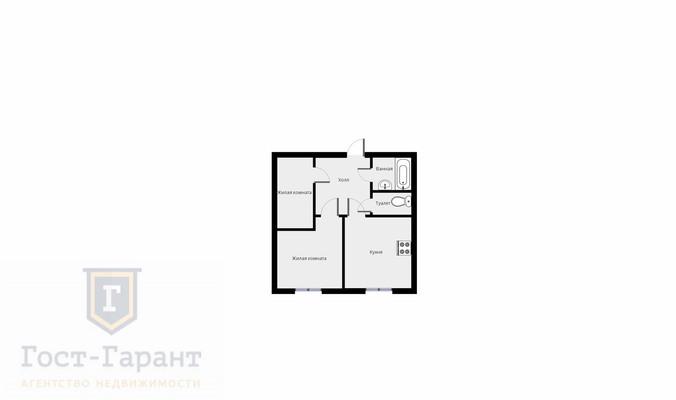 Адрес: Алма-Атинская улица, дом 5, агентство недвижимости Гост-Гарант, планировка: П46, комнат: 2. Фото 9