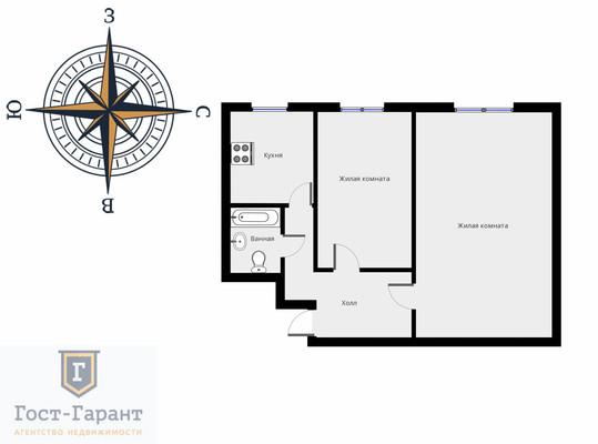 Адрес: 3-я Парковая улица, дом 36к1, агентство недвижимости Гост-Гарант, планировка: И-511/5, комнат: 2. Фото 9