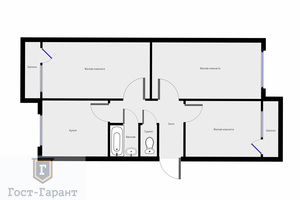 Продажа трехкомнатной квартиры на Сиреневом бульваре
